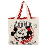 Disney Mickey and Minnie Mouse Canvas Tote