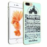 iPhone 7 Plus Case, DURARMOR FlexArmor Walt Disney Quotes Flexible Bumper ScratchSafe TPU Thin Case Shock Absorbing Protector Cover for iPhone 7 Plus 5.5″
