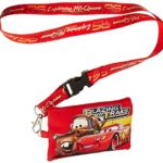 Disney Pixar Cars Lightning McQueen Lanyard with Detachable Coin Pouch – Red