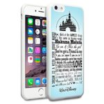 Onelee Customized Disney Series Phone Case for iPhone 6 4.7″, Walt Disney Quotes iPhone 6 4.7″ Case, Only Fit for Apple iPhone 6 4.7″ (White Soft Rubber)