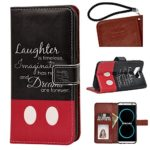 Samsung Galaxy S8 PU Leather Wallet Case, Onelee – Walt Disney Quotes Premium PU Leather Stand Case Back Protector for Samsung Galaxy S8 with Card Slots