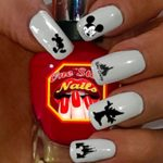 Mickey Disney Black and White. For You: Set of Clear Waterslide Nail Decals for Mickey Disney Black and White. MBW-001-53 by One Stop Nails