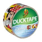 Duck Brand 284497 Disney-Licensed Minnie Mouse Printed Duct Tape with Yellow Stripes, 1.88 Inches x 10 Yards, Single Roll