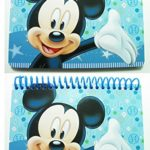 Disney Mickey Mouse ( Set of 2 ) Spiral Autograph Book – Light Blue ( 5×4) Inch, Journals & Notebooks, Park and Theme