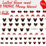 Disney Minnie Mouse Bow Nail Art Decals. Clear Vinyl PEEL and STICK Nail Decals (NOT WATERSLIDE) Set of 74 by One Stop Nails CV-MB001-74