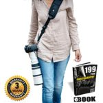 HiiGuy Camera Strap For Nikon l Canon, Extra Long Neck Strap W/Quick Release and Safety Tether,Perfect for All DSLR included eBook,Lens Cloth,SD Card Case and 3 Year Warranty By HiiGuy