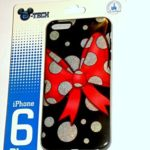 Disney D-tech World WDW Parks Authentic 2015 Minnie Mouse Red Bow Black Dots Iphone 6 Phone Hard Case