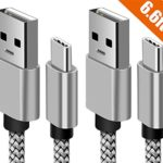 TYPE C Charger Cable, VPR Nylon Braided USB Type C Long Cord-usb Data Charging Cable for Galaxy S8, S8 Plus, LG G6, ZTE Zmax Pro Z981, HTC 10 and More USB Type C Devices (2Pack 6FT)