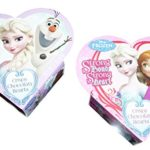 """Disney Frozen """"Strong Bond Strong Heart"""" Valentine Heart BOX with Crispy Chocolaty Hearts (2-pack)"""
