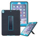 VPR iPad Pro 10.5 Case, [New] [Stand] 3 In 1 Hybrid Armor Shockproof Protective Kickstand Defender Protection Cover For Apple iPad Pro 10.5 Inch 2017 Released Tablet (Black+Blue)