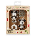 Disney Store 2016 Steamboat Willie Sketchbook Christmas Ornament Set New w Box