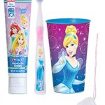 "Disney Princess ""Cinderella"" Inspired 3pc Bright Smile Oral Hygiene Set! Includes Soft Manual Toothbrush, Toothpaste & Mouthwash Rise Cup! Plus Bonus ""Remember to Brush"" Visual Aid!"