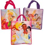Disney Princess Tote Bags Value Pack — 3 Reusable Tote Party Bags (Featuring Cinderella, Belle, Snow White and More)