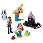 Disney The Little Mermaid Figure Play Set – Disney Little Mermaid Princess Ariel Figurine Cake Toppers Decorative Play Set