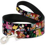 Disney Alice's encounters in Wonderland Dog Leash 0.5″ Wide, 6′ Long, Multicolor