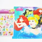 Disney Princess 2018 Wall Calendar and Sandylion Princess Sticker Bundle