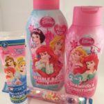 Disney Princess Beauty Kit: Royal Berry Bubble Bath, 2-in-1 Shampoo & Conditioner, Crest Kids Bubble Gum Toothpaste, & a Disney Princess Toothbrush