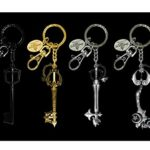 Disney Kingdom Heart Pewter Key Ring SDCC Exclusive Set (4 Pieces)