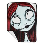 "Disney Nightmare Before Christmas Sally & Jack Luxury Multi-Functional Pet Throw Blanket / Portable Dog Mat / Cat Mat, 30""x40"", Collector's Edition"