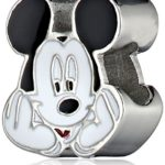 Disney Stainless Steel Mickey Enamel Bead Charm