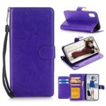 iPhone X Case, Asstar [Stand Feature] Luxury Magnetic PU Leather Wallet Flip with Credit Card Slots Shockproof Scratch-Resistant Protective Case Cover for Apple iPhone X/10 5.8 inch (Purple)