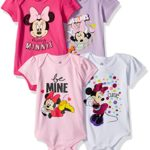 Disney Baby Girls' Minnie Mouse 4-Pack Short Sleeve Bodysuit