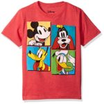 Disney Big Boys' Mickey Mouse, Donald Duck and Goofy T-Shirt